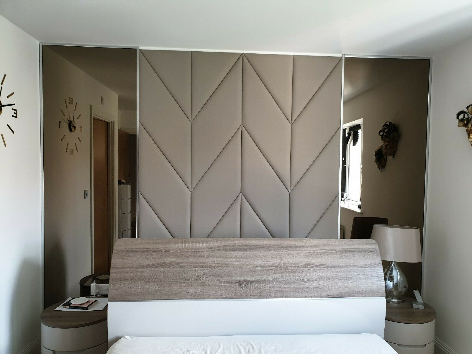Paris Paris180 Faux Leather Used To Create A Really Big Headboard