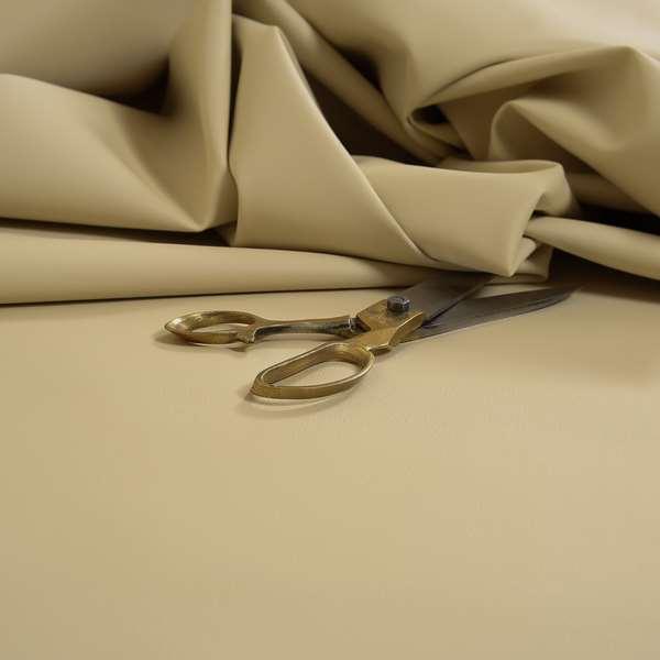Paris Beige Soft Faux Leather PU Grain Finish Look