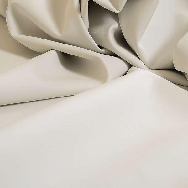 Paris White Soft Faux Leather PU Grain Finish Look