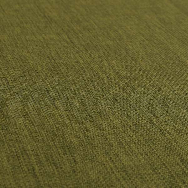 Romeo Modern Furnishing Soft Textured Plain Jacquard Basket Weave Fabric In Kaki Green Colour