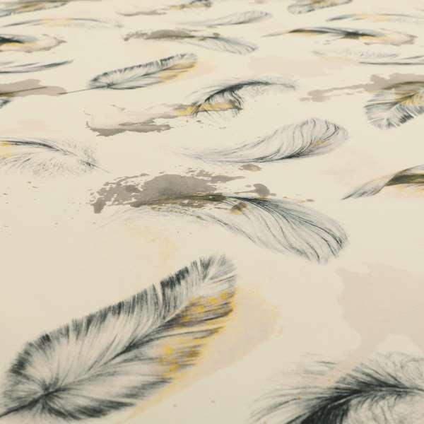 Saleem Printed Velvet Leaf Pattern Velour Soft Velvet White Colour Upholstery Fabric