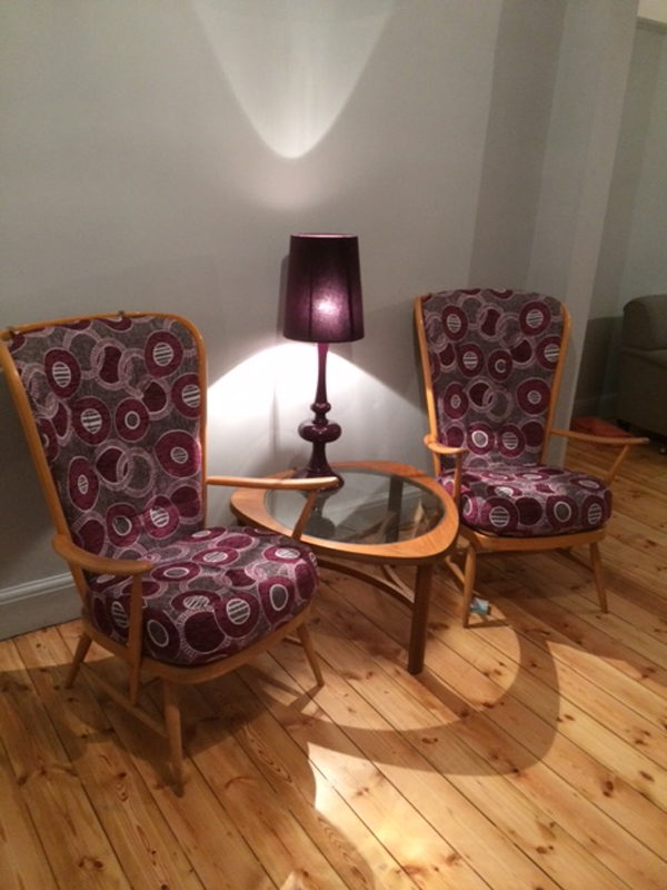 From Orange Velvet To Modern Pattern Chairs Solitaire CTR-387 From Sarah
