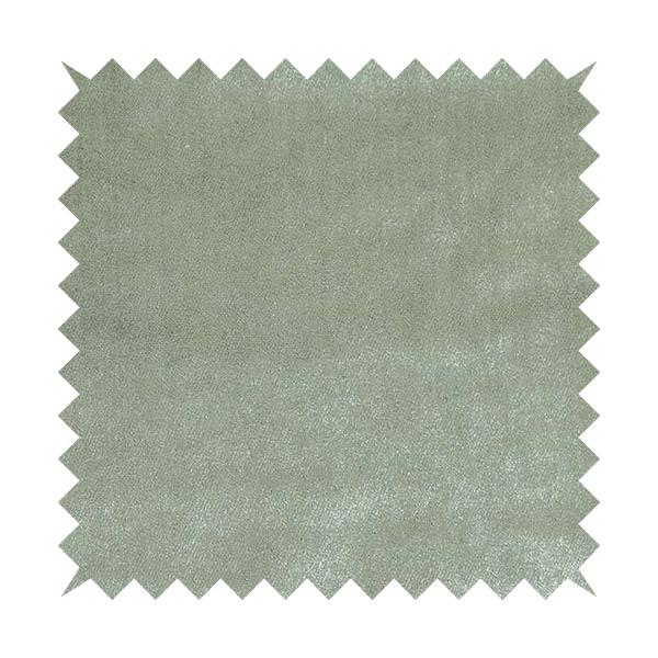 Savoy Lustrous Plain Velvet Upholstery Fabrics In Silver Colour