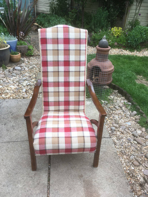 French Polished Chair Upholstered In Falkirk100