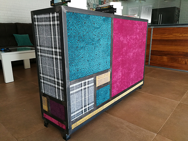 Creative TV Cabinet Using Louise, Ammara, MSS Fabrics