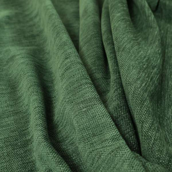 Tanga Superbly Soft Textured Plain Chenille Material Army Green Colour Furnishing Upholstery Fabrics