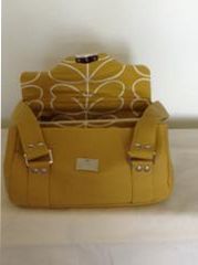 Tracy Campbell Bespoke Handbags With Paris170 Yellow Fabric