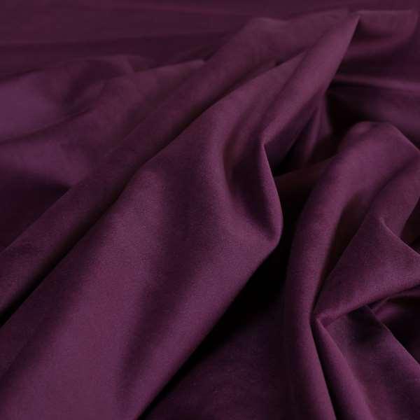 Venice Velvet Fabrics In Purple Colour Furnishing Upholstery Velvet Fabric