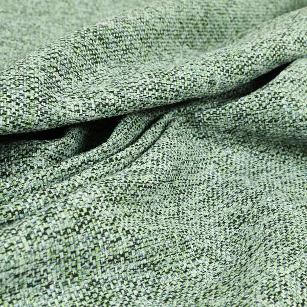 Verona Unique Textured Basket Weave Heavyweight Upholstery Fabric In Blue Green Colour