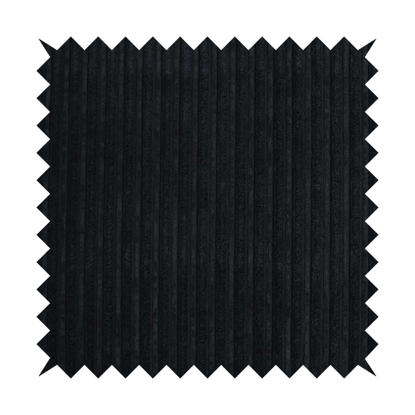 York High Low Corduroy Fabric In Black Colour