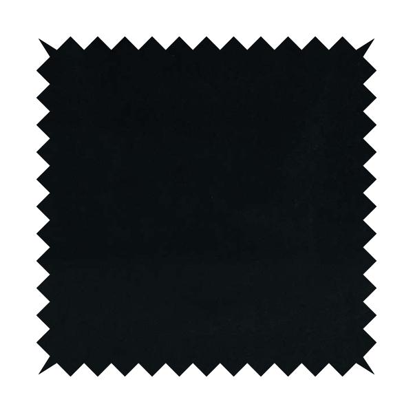 Zouk Plain Durable Velvet Brushed Cotton Effect Upholstery Fabric Jet Black Colour